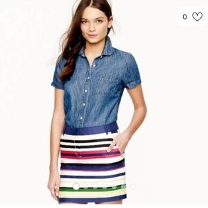 J Crew Multi Striped Mini Skirt 4